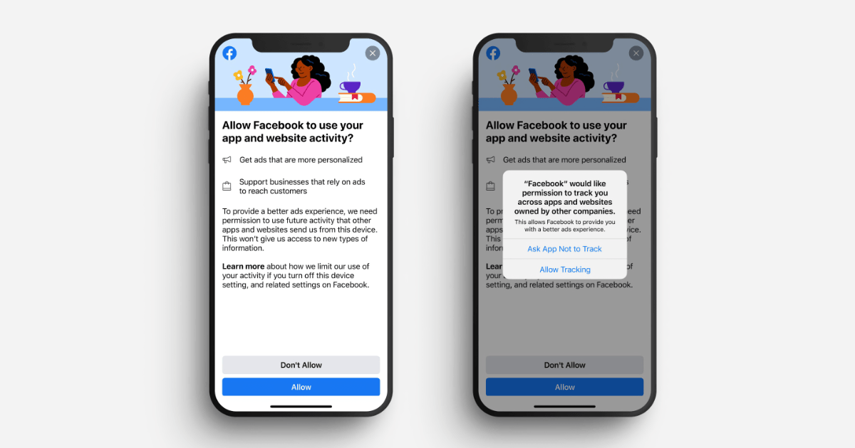 Facebook tries to outmaneuver Apple's privacy pop-up with its own tracking prompt